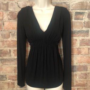 BCBGMaxArista v-neck long sleeve blouse